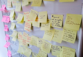 Post-its, stiften en bier als kick-starter voor project